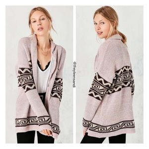 Urban Outfitters Ecote Pink Shawl Cardigan